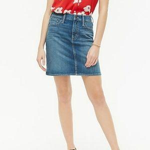 J Crew Denim Jean Mini Skirt BNWT